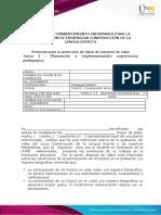 FORMATO DE CONSENTIMIENTO INFORMADO PARA LA PRESENTACIÓN DE EVIDENCIAS CONSTRUCCIÓN DE LA LENGUA ESCRITA