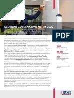 Acuerdo Gubernativo No 79 2020