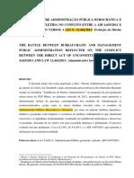 A BATALHA ENTRE ADMINISTRAÇÃO PÚBLICA BUROCRÁTICA E GERENC.462-2011- EVOLUÇÃO DO DIREITO ADMINISTRATIVO