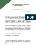 O REGIME DIFERENCIADO DE CONTRATAÇÕES- UM CASO DE INSTITUTIONAL BYPASS-