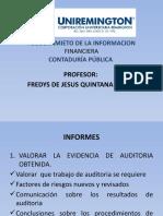 INFORMES DE AUDITORIA ASEGURAMIENTO INFORMACION FINANCIERA