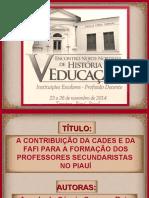 SILIDES - A CONTRIBUIÇÃO DA CADES E DA FAFI ...