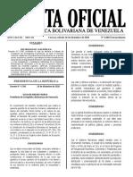 Anexo D. Gaceta Oficial Nro. 6606. Decreto de Estado de Emergencia Económica.