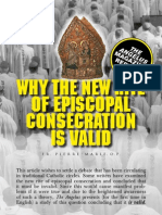 Validity of Episcopal Consecrations