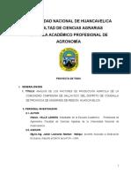 ANÁLISIS DE LOS FACTORES DE PRODUCCIÓN AGRÍCOLA DE LA COMUNIDAD CAMPESINA DE SALLAYOCC
