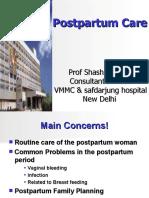 Postpartum Care NIHFW