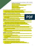 Prova COnhecimentos Especificos 2014