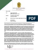 Pelaez Letter