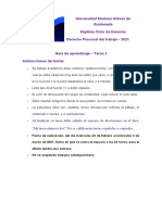 Guía de Tarea 2 Procesal Laboral