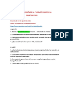 PRODUCTIVIDAD EN LA CONSTRUCCION - TRABAJO N° 1