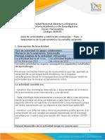 Guía de Actividades y Rúbrica de Evaluación - Unidad 1 - Paso 2 - Establecer Importancia de La Psicometría y La Variable Asignada