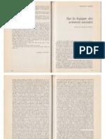 Adorno Sur La Logique Sciences Sociales