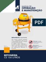 Manual Betoneira 150L