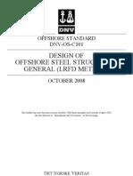 DNV_OS_C101 - Design of offshore steel structures, general (LRFD Method)_October 2008