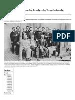 Lista de Membros Da Academia Brasileira de Letras – Wikipédia, A Enciclopédia Livre