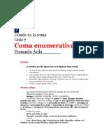 7.0 Coma Enumerativa