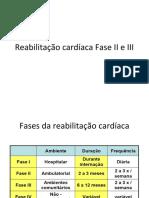 Reabilitação cardíaca Fase II e III