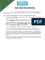 Construction work procedure