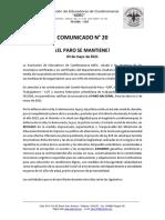 Comunicado 020 Orientaciones