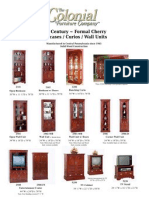 Formal Bookcase Curio Wall Unit Tear Sheets