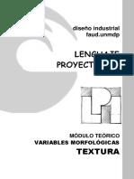LP1 Modulo Teórico Variables Morfológicas TEXTURA
