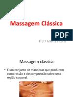 aula massagem classica