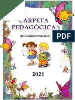 Carpeta pedagógica 2021 - PRIMARIA
