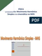 Ondulatória movimento harmônico simples e cinemática no MHS
