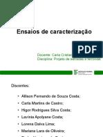 Ensaios de caracterização_Carla_Higor_Lavínia_Mariana_Pedro_Susana_Allison_Lorena.pptx