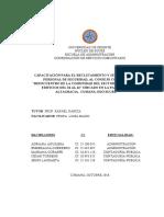PROYECTO CAPACITACIÓN PARA EL RECLUTAMIENTO Y SELECCIÓN DEL PERSONAL DE SEGURIDAD