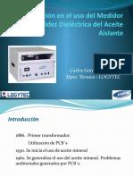 Capacitación en el uso del Espinterometro instronic 90KV