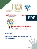 Temario Emprendimiento de La Idea a La Empresa.