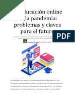 La educación online en la pandemia