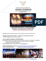 AUDIZIONE Broadway Celebration 2021x