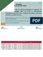 Interruzioni e Sostituzioni Linea Trento-Bassano Del Grappa
