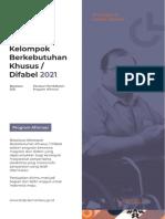 Booklet Beasiswa Berkebutuhan Khusus Difabel Tahun 2021