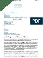 Astrólogos en el Círculo Militar