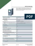Fiche Technique Siemens CPU 1516F