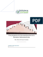 descanonizacion de la literatura latinoamericana