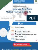 contamination des eaux usees par covid