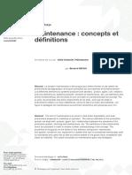 Mt9030 Maintenance Concepts Et Definitio