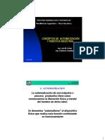 Clase I - Conceptos de Automatizacion y Robotica