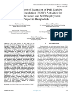 An Assessment of Extension of Palli Daridro Bimochon Foundation (PDBF) Activities for Poverty Alleviation and Self Employment Project in Bangladesh