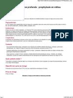 TVP Prophylaxie en Milieu Médical