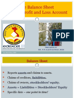The Balance Sheet and Profit and Loss Statement