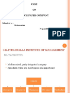 birch paper company dutch No we are evaluated on roi and profit and the transfer price directly affects the evaluation of our company and the $90/thousand yes birch paper company.