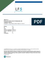 CELF-5 Informe Ficticio (Ejemplo)
