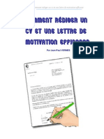9240723 Comment Rediger CV Et Lettres de Motivation