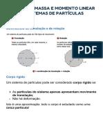 Centro de massa e momento linear de sistema de partículas