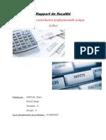 rapport fiscalité CPU